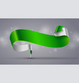 green curved ribbon vector image vector image