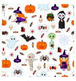 halloween pattern second vector image vector image