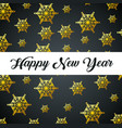 happy new year over flakes background vector image vector image
