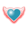 heart with wings vector image vector image