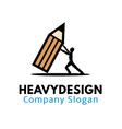 Heavy Design vector image vector image