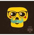 Hipster skull in glasses vector image vector image