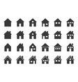 house icon glyph design pixel perfect vector image vector image