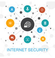 internet security trendy web concept with icons vector image vector image
