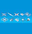 isometric modern drones set vector image