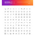 material design arrow icons set vector image vector image