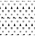 merry christmas new year seamless pattern with vector image vector image