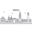 morocco architecture line skyline vector image