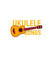 musical instrument icon ukulele songs chords vector image vector image