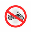 No chopper motorcycle sign icon