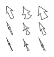 Original Mouse Cursors Icons Arrows vector image