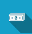 paper money american dollars cash icon isolated vector image vector image