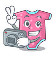 photographer cartoon baby clothes for the newborn vector image