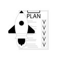 plan start up launch vector image