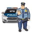 Police patrol sheriff vector image vector image
