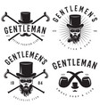 retro badges or labels set for gentleman club vector image vector image