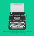 retro typewriter with blank paper vector image vector image