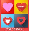 romantic icons collection vector image vector image