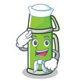 sailor thermos character cartoon style vector image vector image