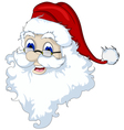Santa Claus head isolated for you design vector image vector image