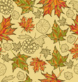 seamless grunge autumn leaves vector image vector image