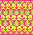 seamless pattern of yellow and green tilted easter vector image