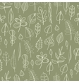 Seamless pattern with leaves floral background vector image vector image