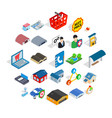 shed icons set isometric style vector image vector image