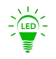 Shining LED bulb light icon simple style vector image
