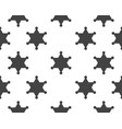 star sherif icon template vector image vector image