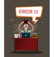 stressed programmer vector image