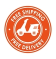 symbol free shipping delivery design icon vector image