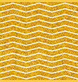 tile pattern with white stripes and gold backgroun vector image