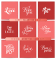 Valentines Day Red Pastel Minimal Greeting Cards vector image