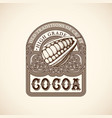 vintage cocoa label vector image
