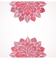 Watercolor pink flower pattern vector image vector image