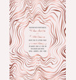 wedding pink gold invitation vector image