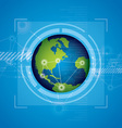 world technology background design vector image vector image