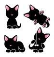 Abstract cute kitten set vector image