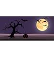 halloween background cartoon vector image