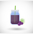 acai berries smoothie flat icon vector image vector image