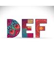 Alphabet Vintage decorative elements vector image