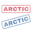 arctic textile stamps vector image vector image