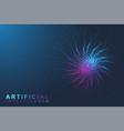 artificial intelligence logo artificial vector image vector image