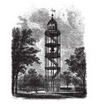 bell tower in augusta municipal building vintage vector image vector image
