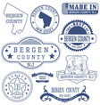 Bergen county New Jersey stamps and seals vector image vector image