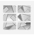 black and white pop art geometric pattern set vector image vector image