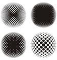 Black halftone design elements vector image vector image