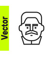 black line portrait joseph stalin icon isolated vector image vector image