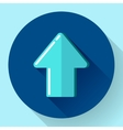 blue Flat Download Upload Icon vector image vector image